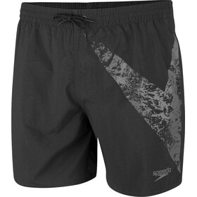 "speedo BoomStar 16"" shorts Herrer, black/oxid grey"